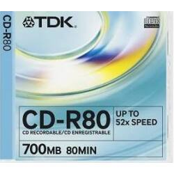 TDK CD-R80 (52X) Normál tok