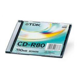 TDK CD-R 80 700MB 52x vékony tok